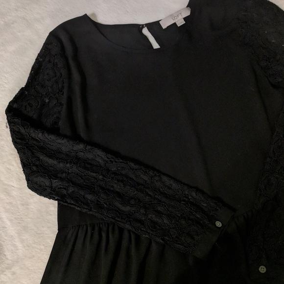 4f4169cc LOFT Tops | Lace Sleeve Peplum Top | Poshmark